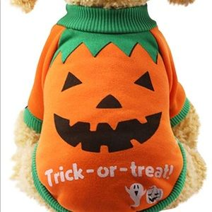 Trick Or Treat XS puppy or pet Halloween sweater